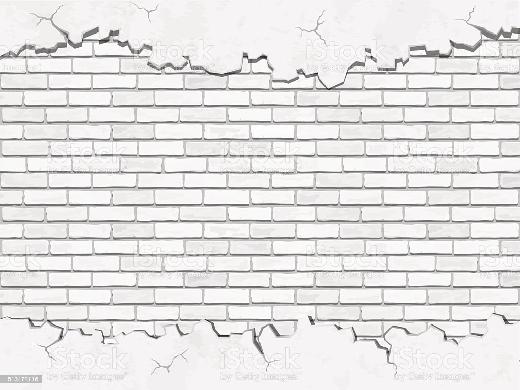 white concrete and brick vector background vector art illustration