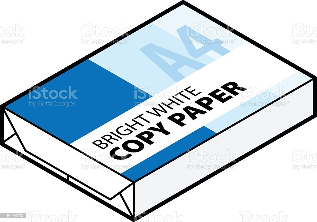 royalty free ream of printer paper clip art vector images rh istockphoto com clipart copy and paste clipart copy stamp