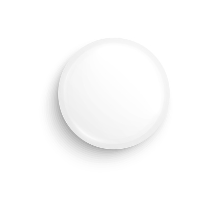 White cosmetic cream jar lid mockup, top view