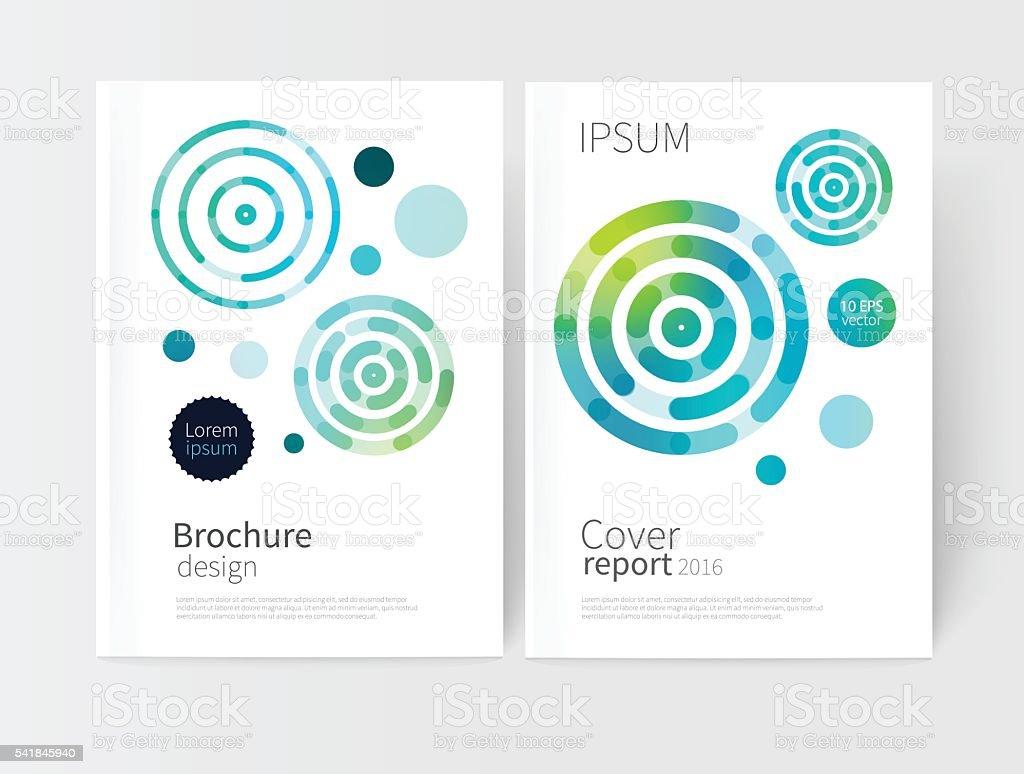 White cover brochure vector art illustration