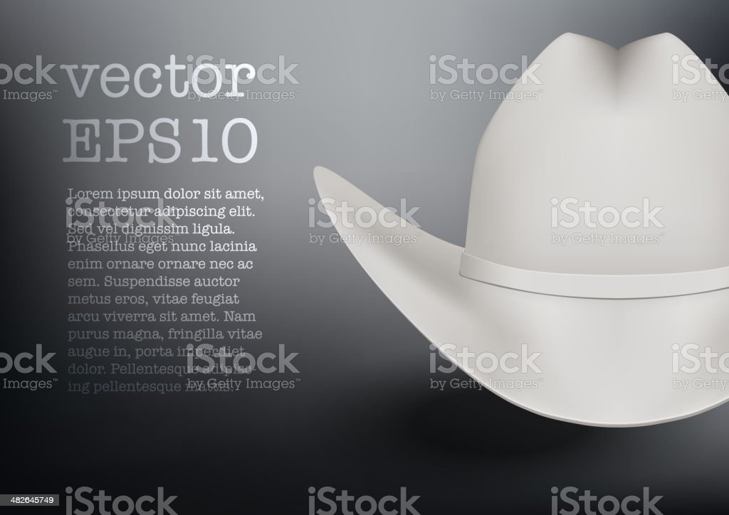 White cowboy hat vector background vector art illustration