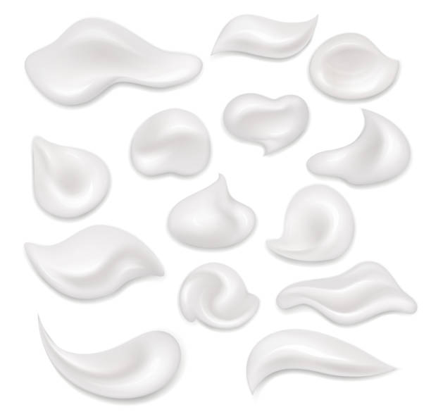 White cream. Cosmetic white product, mousse, gel. vector art illustration
