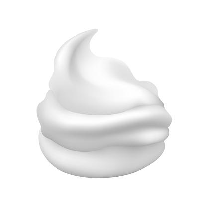 White creamy foam