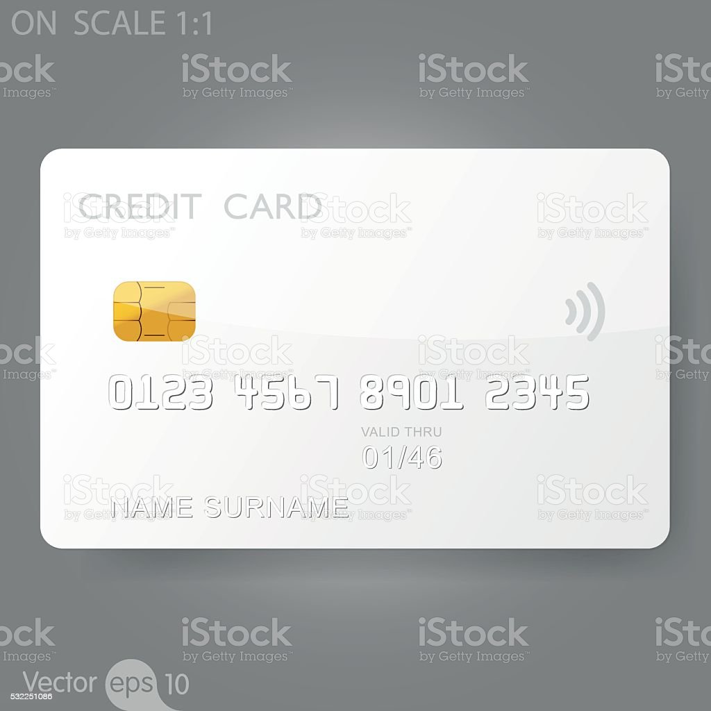 Weiße Kreditkarte Vorlage Vektor Illustration 532251086 | iStock