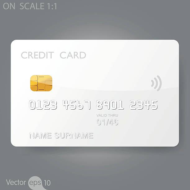 ホワイトのクレジットカードテンプレート - クレジットカード点のイラスト素材/クリップアート素材/マンガ素材/アイコン素材