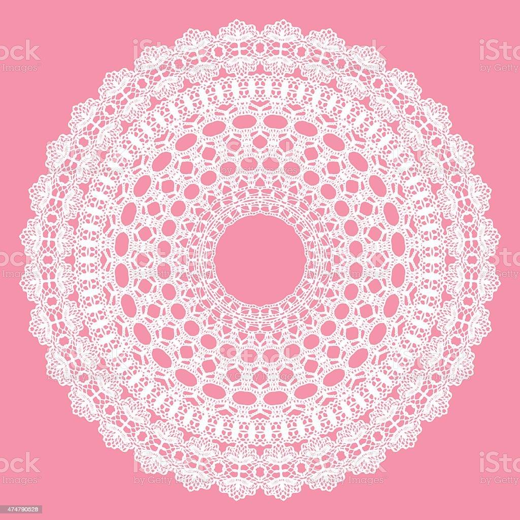 Ilustración de Blanco Crochet Tapete y más banco de imágenes de 2015 ...
