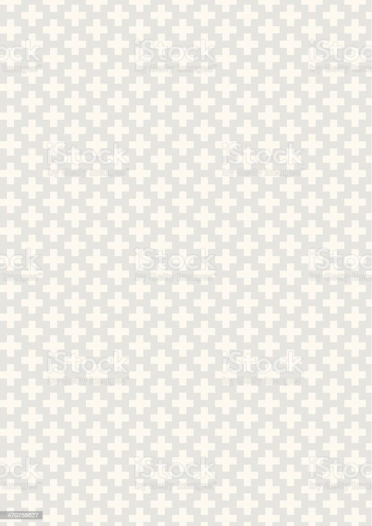 White crosses in an angled pattern with a lighter background vector art illustration