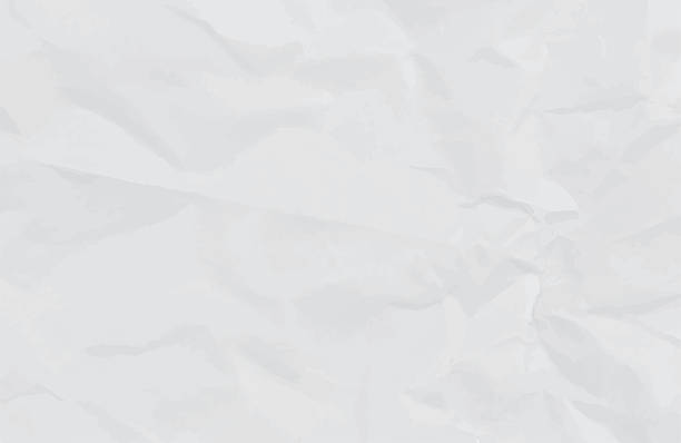 illustrations, cliparts, dessins animés et icônes de blanc papier froissé de fond ou de la texture - paper texture