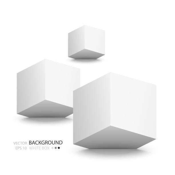 illustrations, cliparts, dessins animés et icônes de cubes blanc isolé sur fond blanc. - starting block