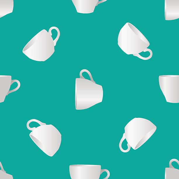 ilustrações de stock, clip art, desenhos animados e ícones de copos de branco, sem costura padrão - café solúvel