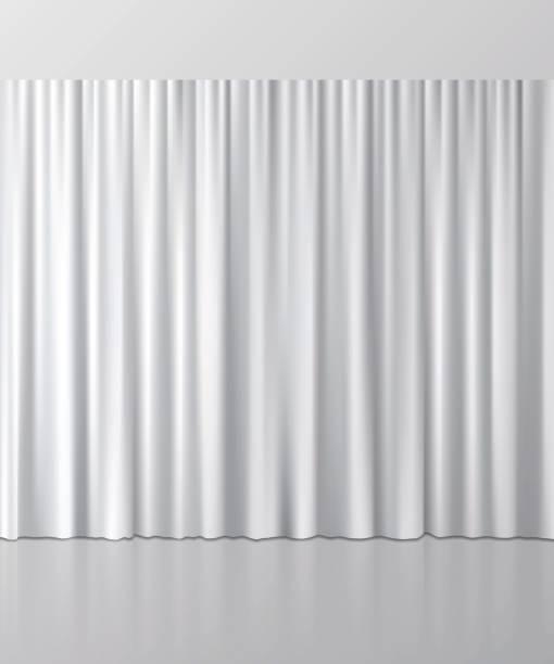 White curtain background. Vector illustration. White curtain background. Vector illustration. curtain stock illustrations