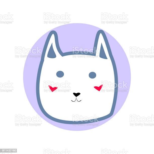 White cute cartoon style cat in shape of blue circle vector vector id911432180?b=1&k=6&m=911432180&s=612x612&h=khoix6lqgs7h4qztfukvkui dvkdjmf3smeusbfqm e=