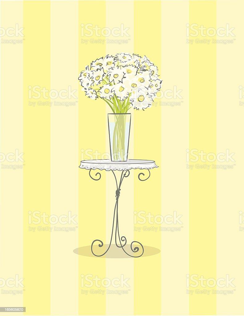 White Daisy bouquet vector art illustration