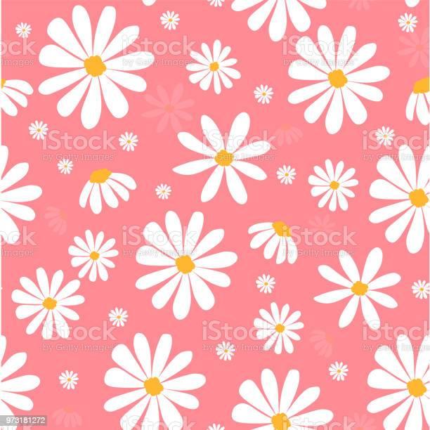 White daisy flowers on pink pastel pattern seamless background vector id973181272?b=1&k=6&m=973181272&s=612x612&h=pkfkbdznlto8jjs6jmtxrzecasj7sqpdh9qsdxy ofs=