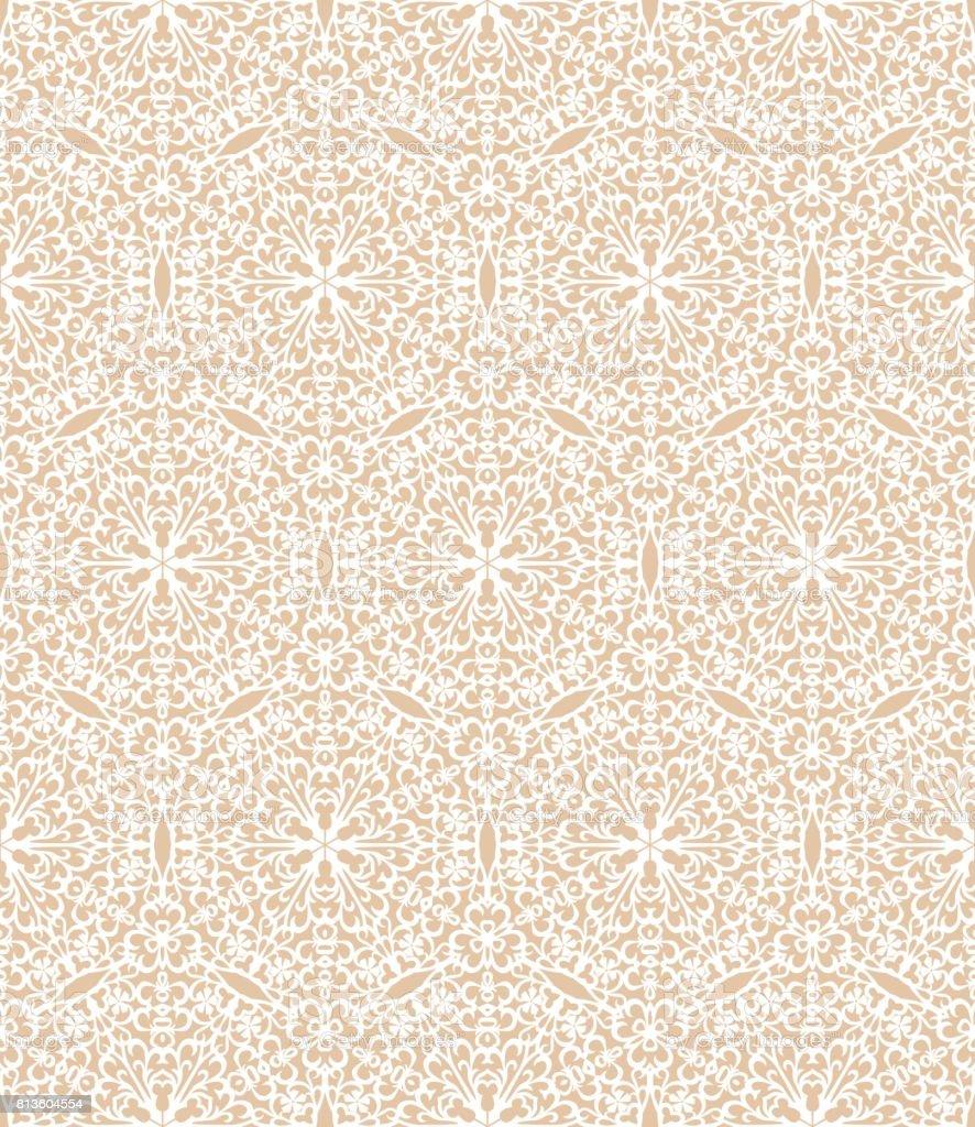 White decorative pattern vector art illustration
