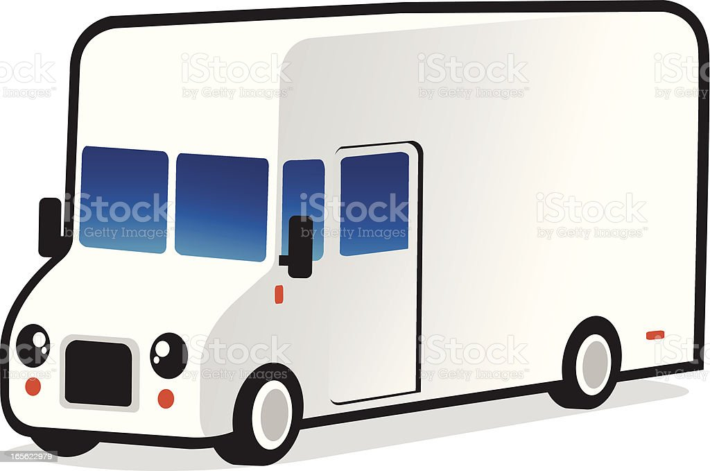 white delivery van royalty-free stock vector art