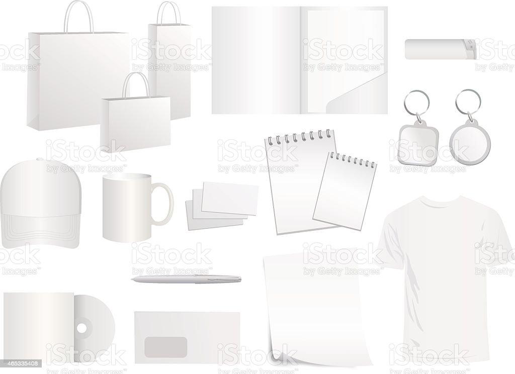 white design templates for brand style, vector vector art illustration
