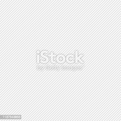 istock White diagonal stripes texture, line isolated, line 1137543853
