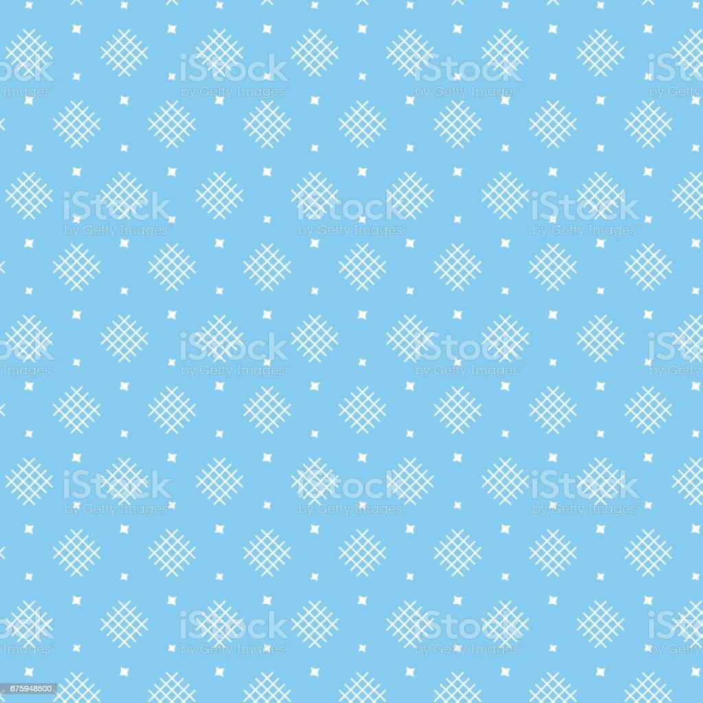 Forma De Diamante Blanco Tejer Patrón Con Estrella Sobre Fondo Azul ...