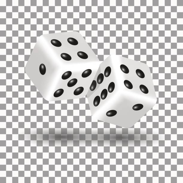 white dice in 3d style, vector illustration. - dice stock illustrations, clip art, cartoons, & icons