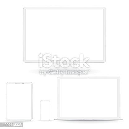 istock White digital gadgets set 1220418303