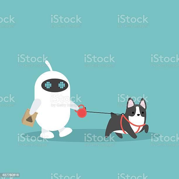 White domestic robot walking the dog vector id637260816?b=1&k=6&m=637260816&s=612x612&h=apeaqodo nsxjc6dlirxviwrwaf9jdwhd5r2c2dpfgq=