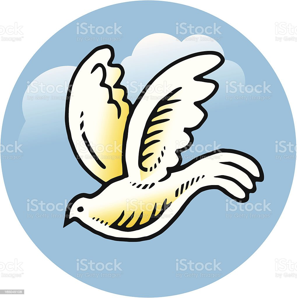 White dove vector art illustration