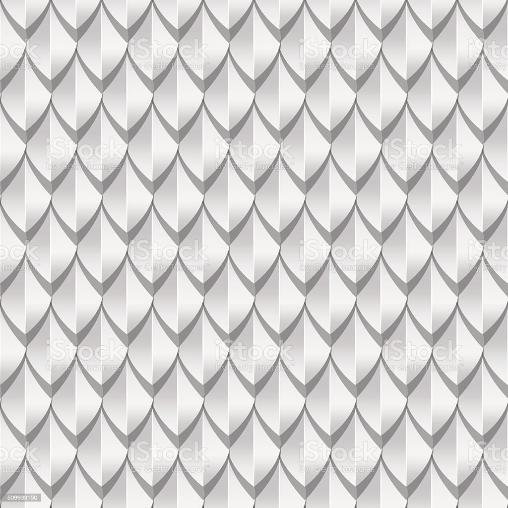 White dragon scales seamless background texture vector art illustration