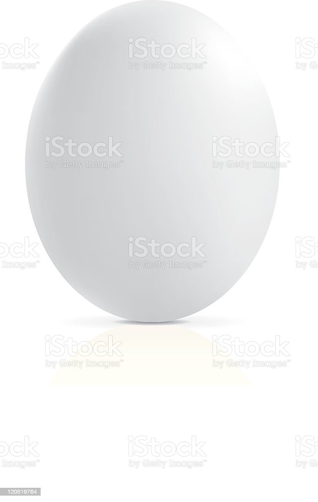 White egg royalty-free stock vector art