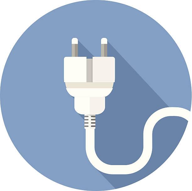 illustrations, cliparts, dessins animés et icônes de blanc prise électrique sur fond bleu - rallonge électrique