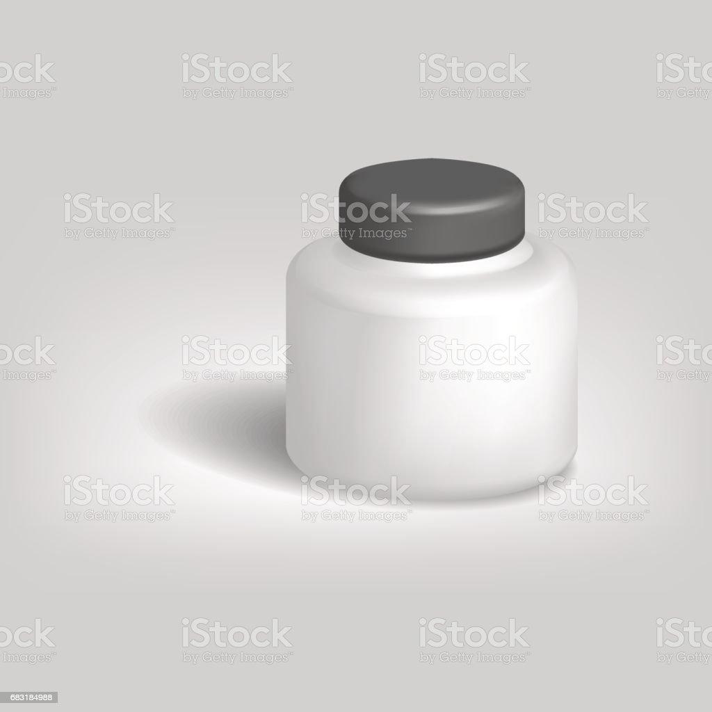 白色的空罐,用黑色的蓋子,向量圖。 免版稅 白色的空罐用黑色的蓋子向量圖 向量插圖及更多 乾淨 圖片