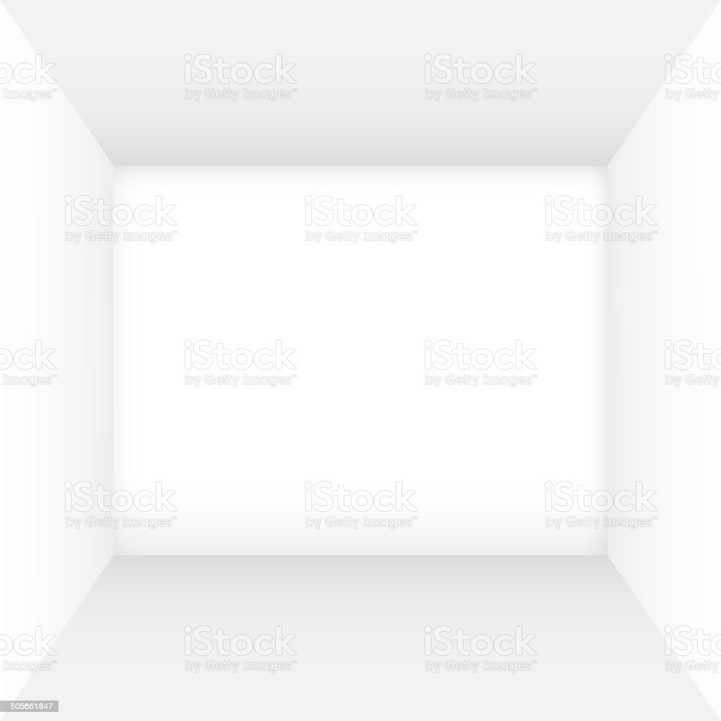 White empty room vector art illustration