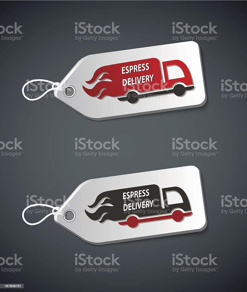 white express delivery labels royalty-free stock vector art