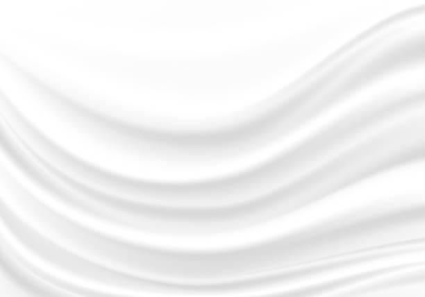 白い生地のサテンの波の背景テクスチャベクトルのイラスト。 - シルクのテクスチャ点のイラスト素材/クリップアート素材/マンガ素材/アイコン素材