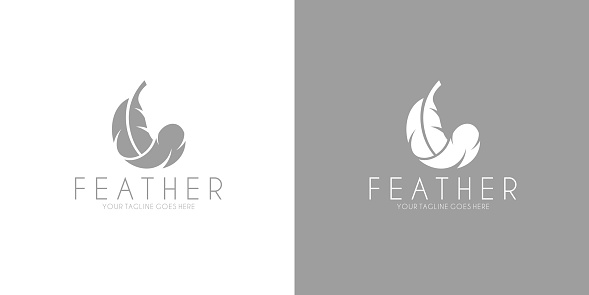 White feather.  Black feather