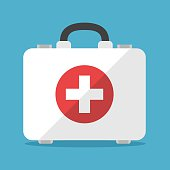 istock White first aid kit 628136486