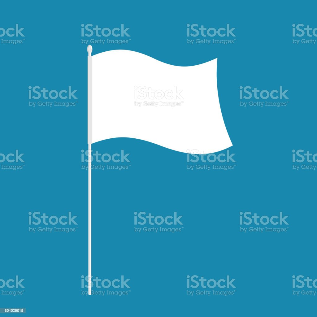 White flag isolated. symbol of defeat. Vector illustration vector art illustration