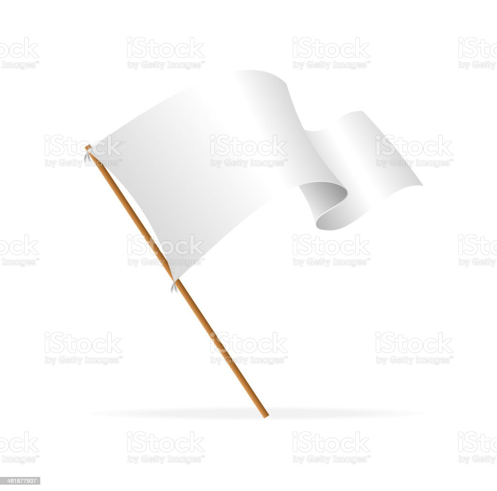 White flag vector art illustration