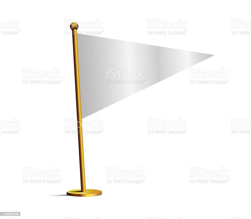 White flag vector art illustration