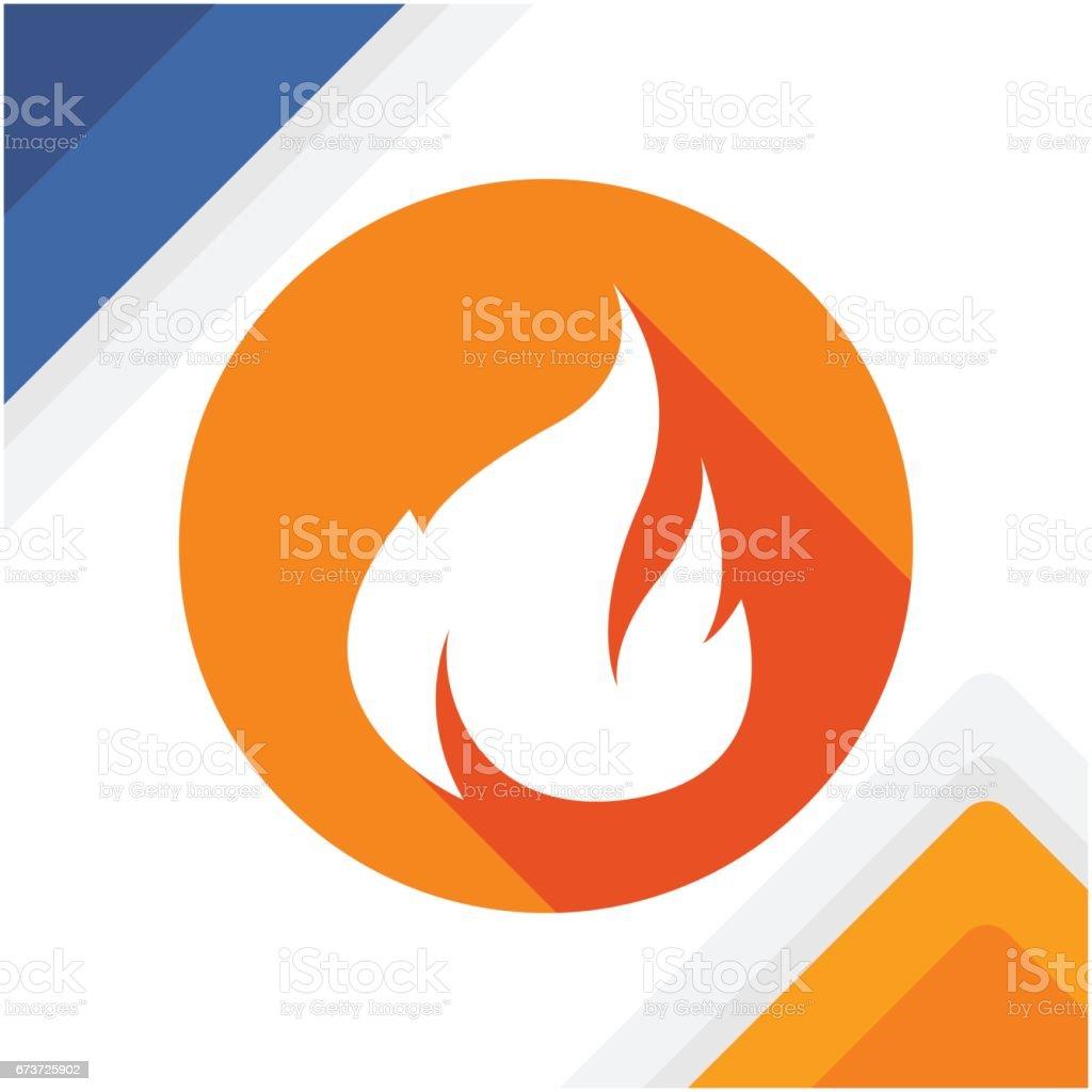 icône de flamme blanche isolée dans un cercle orange avec coloration et effets dans un style design plat d'ombrage icône de flamme blanche isolée dans un cercle orange avec coloration et effets dans un style design plat dombrage – cliparts vectoriels et plus d'images de brûler libre de droits