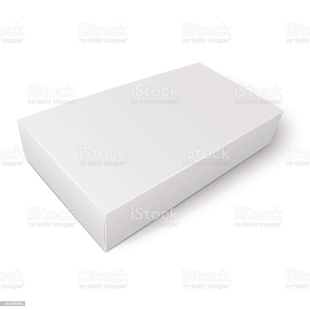 ホワイトペーパーのテンプレートフラットボックス のイラスト素材