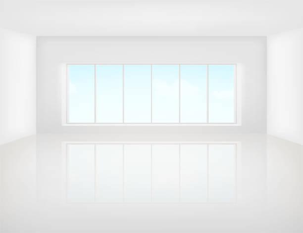 illustrations, cliparts, dessins animés et icônes de fond blanc étage - architecture intérieure beton