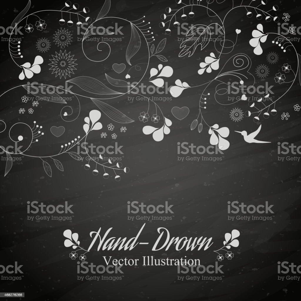 Blume auf einer Tafel – Vektorgrafik