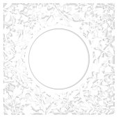White floral paper-cut art with two layers and shadow. Elegant frame for greeting cards (birthday, valentine's day), wedding and engagement invitation card template.