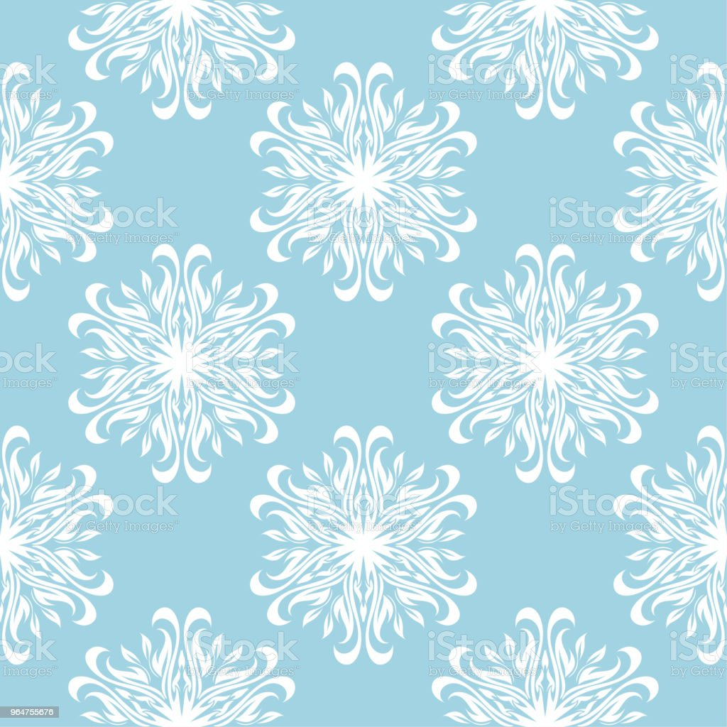 White floral seamless design on blue background royalty-free white floral seamless design on blue background stock vector art & more images of abstract