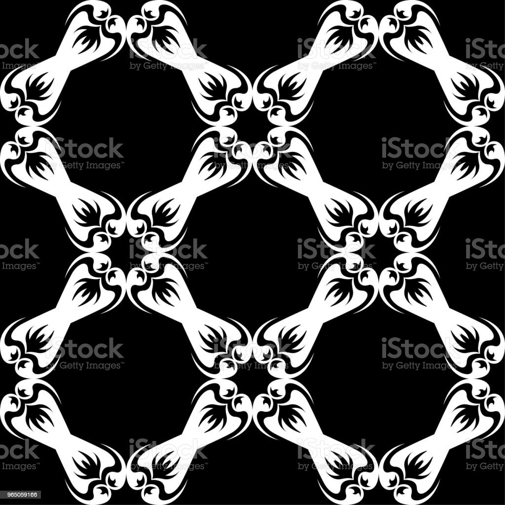 White floral seamless pattern on black background royalty-free white floral seamless pattern on black background stock vector art & more images of abstract