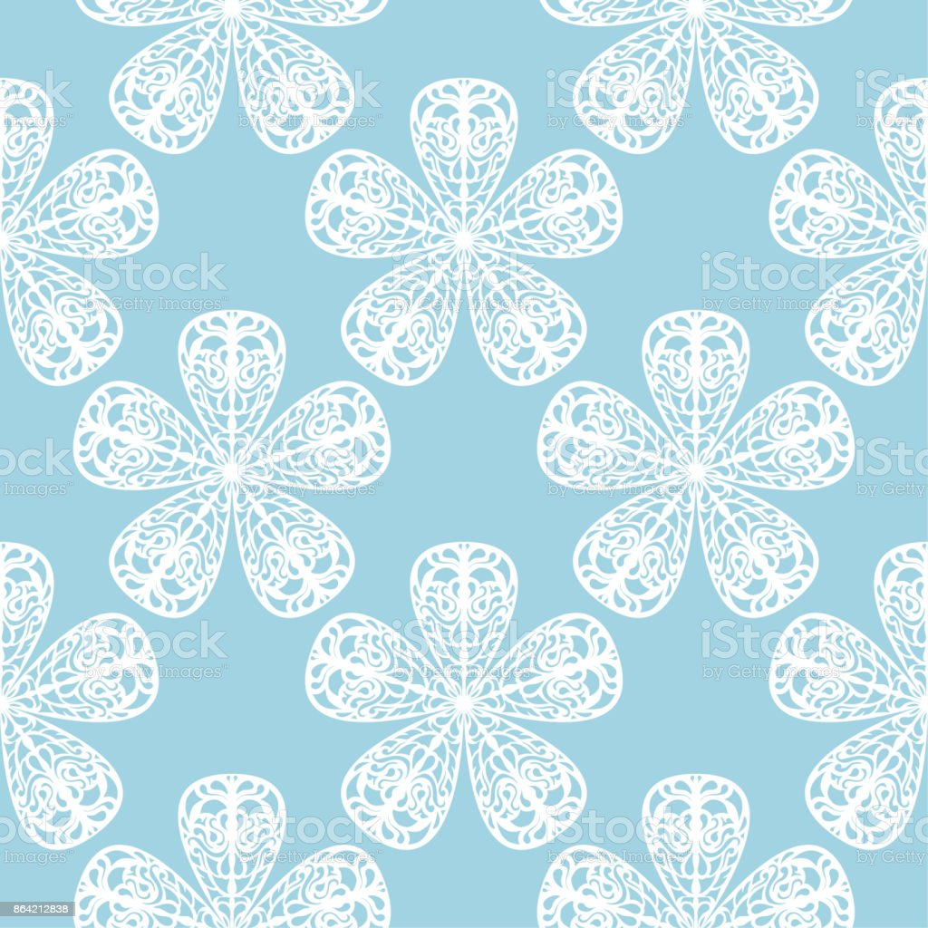 White floral seamless pattern on blue background royalty-free white floral seamless pattern on blue background stock vector art & more images of abstract