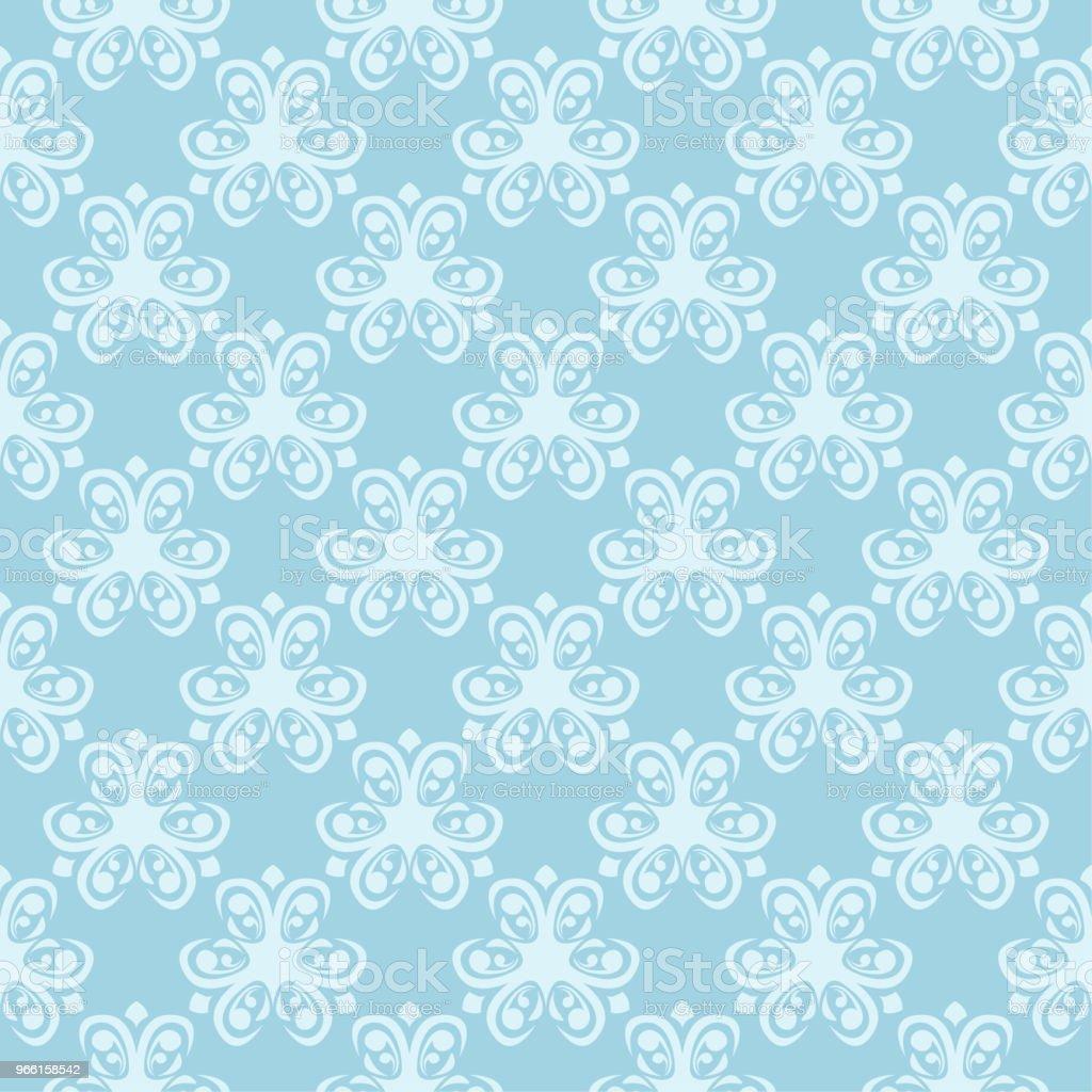 Witte naadloze bloemmotief op blauwe achtergrond - Royalty-free Abstract vectorkunst