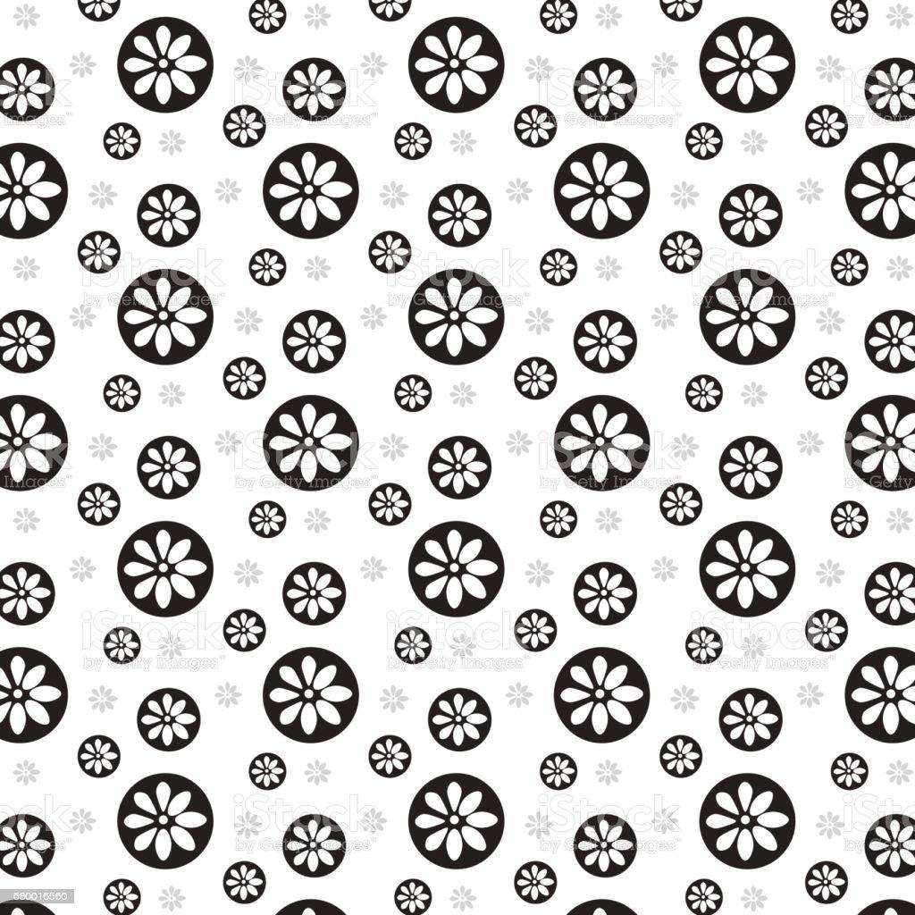 Fleur Blanche Sur Un Cercle Noir Avec Impression De Fond Fleur