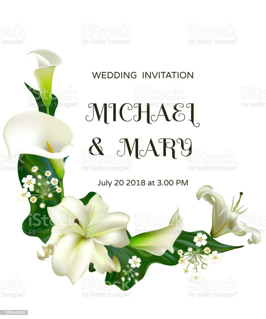 White Flowers Floral Background Calla Lilies Wedding